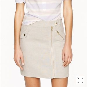 Motorcycle Mini Linen Skirt J Crew Size 4 Gold